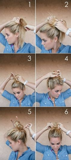 Top 10 Super Easy 5-Minute Hairstyles For Busy Ladies  Top 10 Super Easy 5-Minute Hairstyles For Busy Ladies by Top Inspired:  http://www.fashionhaircuts.party/2017/07/09/top-10-super-easy-5-minute-hairstyles-for-busy-ladies-2/