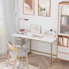 weekend sales White Desk Office, White Desks, Home Office Desks, Girls White Desk, Small White Desk, Va Office, Small Office Desk, Yellow Office, Cute Office