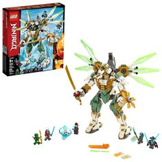 Buy LEGO Ninjago Lloyds Titan Mech - Find a superb collection of toys and games from Hamleys. We offer fast, efficient delivery on a wide range of toys and games, all available with premium gift wrapping! Lego Ninjago Lloyd, Lego Ninjago Minifigures, Ninjago Games, Ninja Action Figures, Action Toys, Shop Lego, Buy Lego, Shuriken, Lego Batman