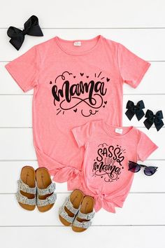 Fashion Tips Teenage .Fashion Tips Teenage Mommy And Me Shirt, Mommy And Me Outfits, Girl Outfits, Cute Outfits, Vinyl Shirts, Mom Shirts, Oakley, Mom And Baby, Mom And Me