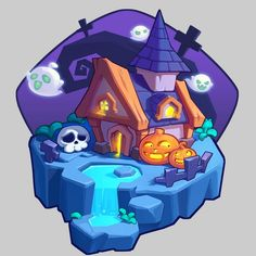N/A 2d Game Art, Video Game Art, Isometric Art, Game Ui Design, Game Props, Cartoon Games, Game Concept Art, Game Assets, Building Concept