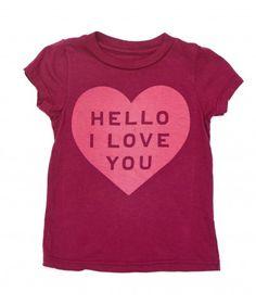 Baby I Love You Tee - Little Peanut Essentials - Shop - baby girls | Peek Kids Clothing