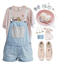 """LITTLE GIRL"" by emmas-fashion-diary ❤ liked on Polyvore featuring Vans, Juicy Couture and Jellycat"