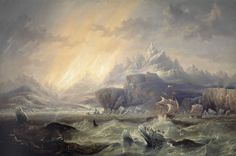 File:HMS Erebus and Terror in the Antarctic by John Wilson Carmichael.jpg
