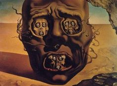 """""""A face da guerra"""", de Salvador Dalí"""