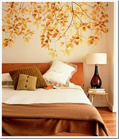Gold Tree Accent Wall