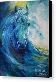 Abstract Horse Paintings - Wave Runner Blue Ghost Equine by Marcia Baldwin Horse Artwork, Blue Horse, Horse Drawings, Equine Art, Animal Paintings, Horse Paintings, Pastel Paintings, Zebras, Painting & Drawing