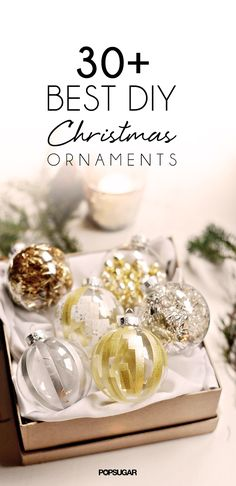 Pin for Later: 34 Creative DIY Christmas Ornaments Washi Tape Ornaments These washi tape ornaments are so easy to make yet so chic. Diy Christmas Ornaments, Christmas Projects, Holiday Crafts, Christmas Decorations, Clear Ornaments, Homemade Ornaments, Ball Ornaments, Tree Decorations, Holiday Fun