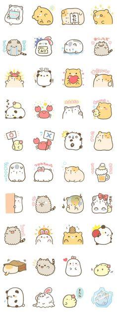 Ideas Drawing Cute Animals Kawaii For 2019 Doodles Kawaii, Kawaii Chibi, Kawaii Art, Cute Chibi, Stickers Kawaii, Cute Stickers, Emoji Stickers, Printable Stickers, Kawaii Drawings