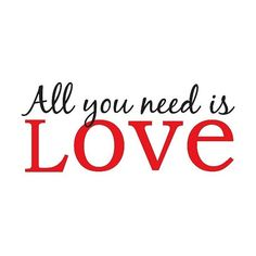 WallPops Wall Phrase All You Need Is Love, Red/Green ($14) ❤ liked on Polyvore featuring home, home decor, wall art, wall vinyls home decor, mounted wall art, quote wall art, interior wall decor and typography wall art
