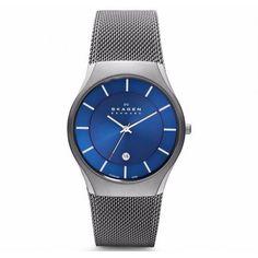 956XLTTN BLUE CALENDAR Modelo con malla regulable Reloj SKAGEN para hombre by www.timeseuropa.com