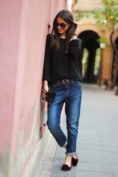 Black Top With Blue Jean