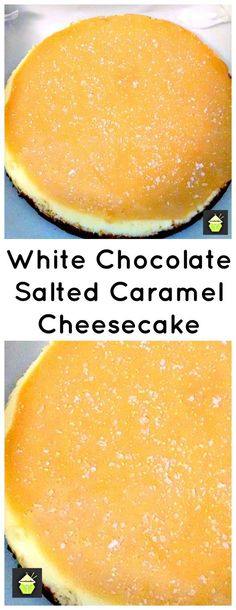White Chocolate Salted Caramel Cheesecake. A great tasting baked cheesecake and easy to make too!