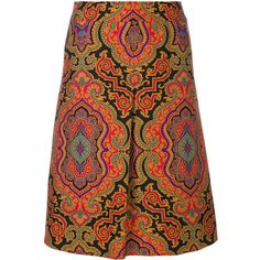 Etro paisley skirt (£885) ❤ liked on Polyvore featuring skirts, paisley print skirt, etro skirt, paisley skirt, multicolor skirt and colorful skirts