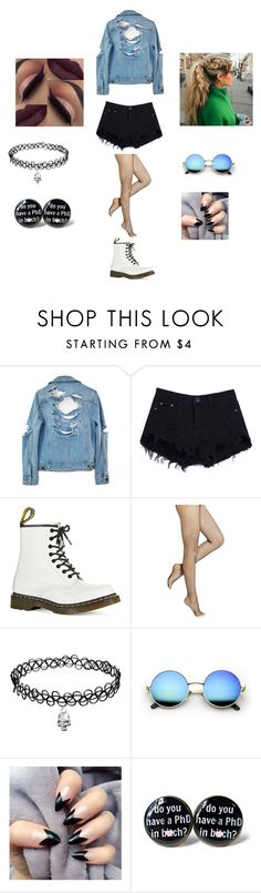 """""""Do u have a phd"""" by theycallmepoopey ❤ liked on Polyvore featuring High Heels Suicide, Dr. Martens and Hue"""