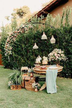 Wedding Stage Decorations, Garden Wedding Decorations, Garden Party Wedding, Rustic Garden Party, Love Story Wedding, Dream Wedding, Vintage Garden Parties, Persian Wedding, White Wedding Cakes