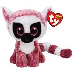 TY BEANIE BOOS Leeann the Pink Lemur (Small)