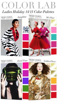 TREND COUNCIL- HOLIDAY 2014 LADIES COLOR PALETTES
