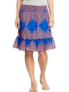 Womens Printed-Tiered Skirts- I LOVE this!