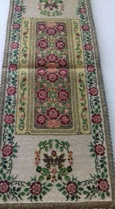 Cross Stitch Rose, Cross Stitch Embroidery, Bohemian Rug, Diy And Crafts, Vintage, Home Decor, Greek, Fabrics, Gallery