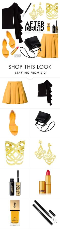 """""""After Dark: Party Outfits"""" by donna-italiana ❤ liked on Polyvore featuring Guild Prime, Beaufille, Michel Vivien, tarte, Lipstick Queen, Yves Saint Laurent and modern"""