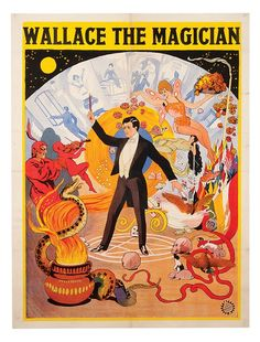 Lee, Wallace. Wallace the Magician magic poster.