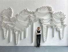 This is so cool, a great large scale instillation.   Design Free Thursday // Toilet Paper Installations by Sakir Gökcebag.