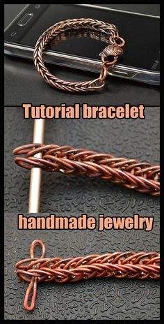 Chain Making Tutorial Brief instructions for making a chain of copper wire. Chain Making TutorialBrief instructions for making a chain of copper wire.The fi - Copper Wire Crafts, Copper Wire Jewelry, Wire Jewelry Making, Wire Jewelry Designs, Handmade Wire Jewelry, Jewelry Making Tutorials, Handmade Bracelets, Jewelry Crafts, Jump Ring Jewelry