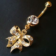 14g~3/8 Bow Belly Button...