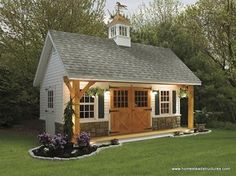 47 Incredible Backyard Storage Shed Design and Decor Ideas Backyard Storage Sheds, Backyard Sheds, Shed Storage, Built In Storage, Garden Sheds, Pool Storage, Storage Ideas, Garden Houses, Garden Cottage