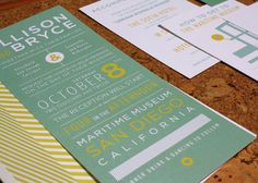 Allison & Bryce Wedding Invitations. $4.00, via Etsy.