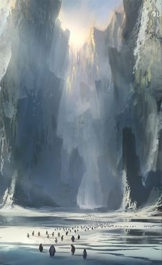 Denis Loebner‎ - Daily Spitpaint Penguin safe haven. Went with the generic spikey landscape instead of the obvious batman homage