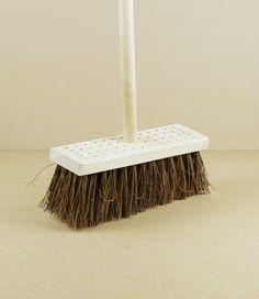 Stitched yard broom