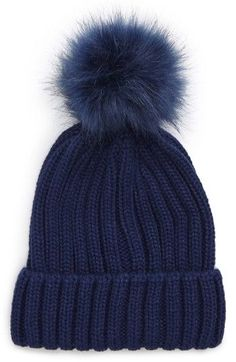 Free shipping and returns on BP. Faux Fur Pompom Beanie at Nordstrom.com. A matching faux fur pompom is the fuzzy cherry on top of this cute and cozy knit beanie.