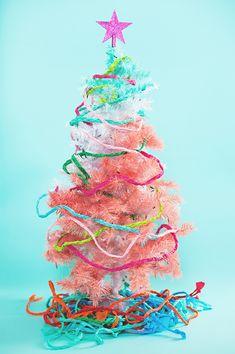 braided streamer Christmas garland