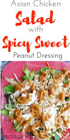 My Asian Chicken Salad with Spicy Sweet Peanut Dressing is a unique way to get your veggies in! It's infused with Thai flavor and topped with an unforgettable dressing. It's low-carb, sugar-free and THM:S!)