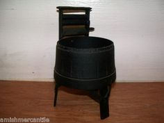 Miniature Doll House Cast Iron Toy Washer / Wringer- Great for Display