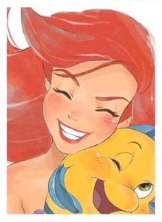 Image uploaded by Find images and videos about disney, ariel and flounder on We Heart It - the app to get lost in what you love. Ariel Disney, Walt Disney, Disney Pixar, Disney Merch, Disney Fan Art, Disney Girls, Disney And Dreamworks, Disney Animation, Disney Cartoons