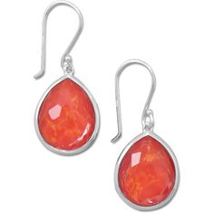 Pear Shape Freeform Faceted Quartz over Coral Drop Earrings (2,935 THB) ❤ liked on Polyvore featuring jewelry, earrings, earring jewelry, quartz jewelry, coral earrings, clear quartz crystal jewelry and coral jewellery
