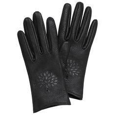 Mulberry - Effie Glove in Black Deerskin
