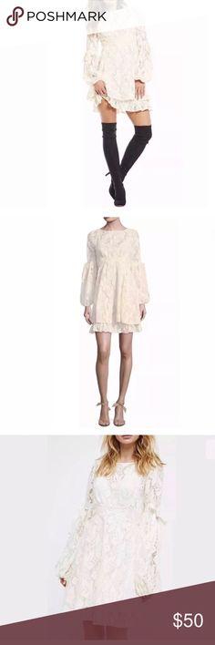 c578b7bdd41ec Free People Rubi Lace Mini Dress Small NWT The Ruby Crochet Lace Mini Dress  gives off