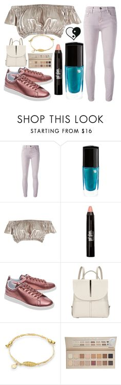 """Untitled #1307"" by cashtonlv on Polyvore featuring Current/Elliott, Lancôme, River Island, adidas Originals, Kin by John Lewis and LORAC"