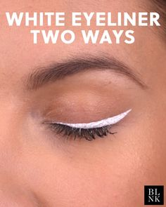 White Eyeliner, Two Ways #blinkbeauty #beautytutorial #makeuptutorial #whiteeyeliner #beauty