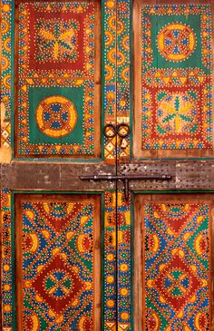 Colorful Morocco Greeting Card: A trip to Morocco is a sensory overload. Frenetic, chaotic and something to wow you at every turn. This card will remind them of a wonderful trip past, present or future. Old Doors, Windows And Doors, Moroccan Doors, Berber, Prayer Rug, Painted Doors, Door Knockers, World Cultures, Travel Gifts