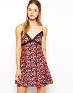 motel antoinette dress  red  #covetme