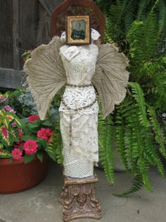 doll altered art godly woman vintage tintype by uncommonstuff, $140.00