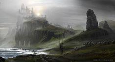 Here Be Dragons - Traveler, Tomasz Namielski on ArtStation at https://www.artstation.com/artwork/here-be-dragons-traveler