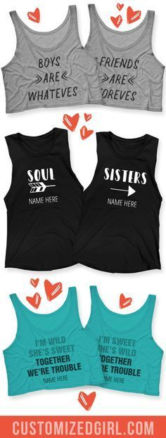 Celebrate your BFF, your bestie, and partner in crime with custom best friend shirts! Celebrate your BFF, your bestie, and partner in crime with custom best friend shirts! Best Friend T Shirts, Bff Shirts, Best Friend Outfits, Couple Shirts, Shirts For Girls, Funny Shirts, Girl Shirts, Friends Shirts, Best Friend Clothes