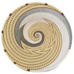The Barrington Garage Fair Trade Zulu Telephone Wire Platter Basket, Silver Sea Round Basket, Cord Organization, Zulu, Weaving Techniques, Handmade Soaps, Holiday Travel, Telephone, Fair Trade, Platter