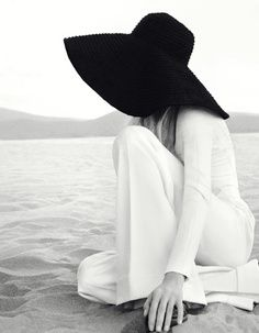 Click to shop this trend!  Black Floppy Hats $42